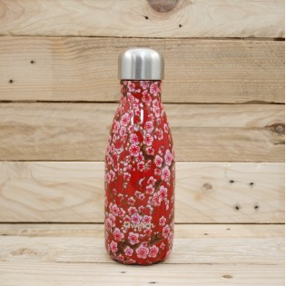 Bouteille isotherme Qwetch - 260mL - FLOWERS Rouge