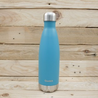 Bouteille isotherme Qwetch- 500mL - ORIGINALS Bleu turquoise